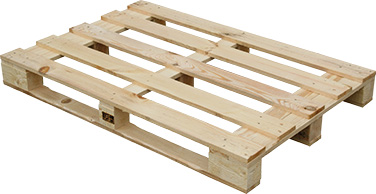 Atypical wooden pallet