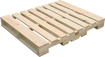 One-off wooden pallet