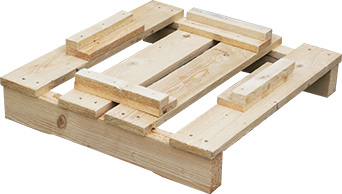 Pallet with fixation components
