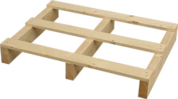 Wooden pallet designed according to customer wishes