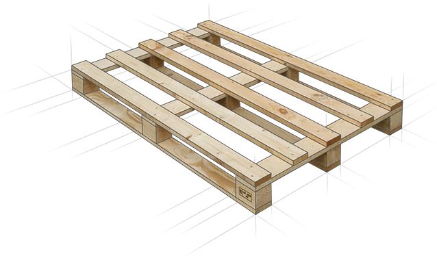Dried IPPC Pallets