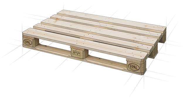 Europallets with IPPC certificate