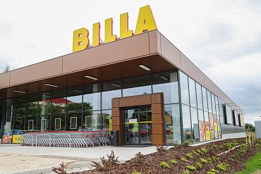 Bau des BILLA Supermarkts