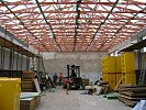 Stavba haly CAPE / Bau der Halle CAPE / CAPE factory building construction / Строительство цеха CAPE