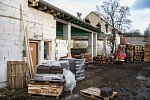 2003 - Výstavba sušáren / Aufbau von Trockenkammer / Building up the wood drying kiln / Строительство сушек